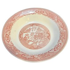 Royal China Pink Red Willow Ware Soup Bowl