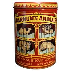 Barnum Animals Crackers Tin 1979 Nabisco Circus Theme
