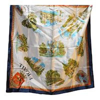 Tivoli Souvenir Travel Scarf 29 IN Square