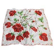 Red Roses Cotton Handkerchief