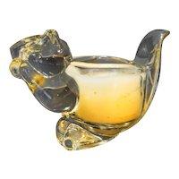 Avon Glass Squirrel Chipmunk Candle Holder