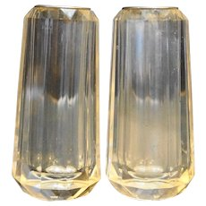 Clear Lucite Acrylic Paneled Salt Pepper Shakers Bijan Taiwan