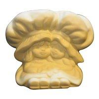 Strawberry Shortcake Hallmark White Bisque Porcelain Candle Holder