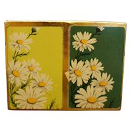 Russell Deluxe Crazy Daisy Flower Power Playing Cards Double Deck Unopened