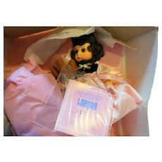 Madame Alexander Little Miss Magnin Brunette Teddy bear & Teaset NIB Ltd Ed 3600