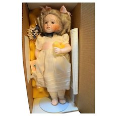 Lawton Doll Marigold Garden 1992 NIB Ltd Ed 391/750 14 IN Porcelain