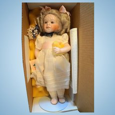 Lawton Doll Marigold Garden 1992 NIB Ltd Ed 391/750 14 IN Porcelain