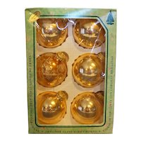 Christmas by Krebs Gold Ball Ornaments Set of 6