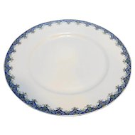 Limoges U.C. France Marshal Fields Plate Blue Floral Rim 8 3/4 IN