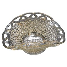 Imperial Laced Edge Clear 9 IN Basket Bowl
