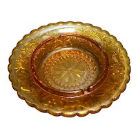 Tiara Exclusives Amber Sandwich 7 IN Ashtray Round