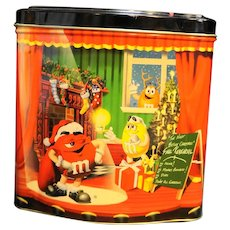 M&M's Night Before Christmas Tin 1998 Christmas Village