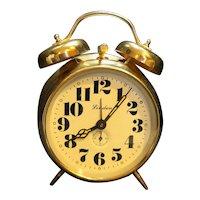 Linden Double Bell Wind Up Alarm Clock Romania 1960s