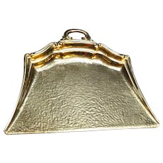 Celtic Quality Plate Gold Tone Crumb Crumber Tray Made in England