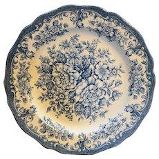 Avondale Blue Large Dinner Plate 10 3/8 IN J&G Meakin England