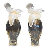 Nina Ricci L'Air du Temps Glass Eau du Toilette Bottles Pair Bird Finials
