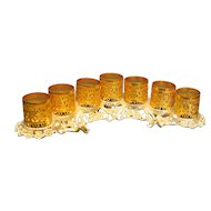 Gold Tone Ormolu Filigree Lipstick Holder Vintage 1940s