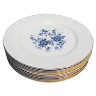 Wedgwood Royal Blue Ironstone Dinner Plates Set of 8