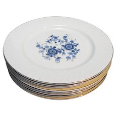 Wedgwood Royal Blue Ironstone Dinner Plates Set of 8