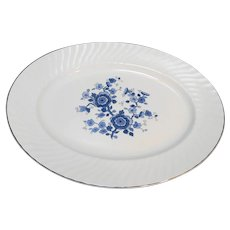Wedgwood Royal Blue Ironstone Oval Platter 12 IN