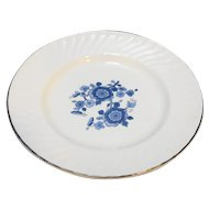 Wedgwood Royal Blue Ironstone Bread Plate