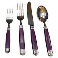 Mikasa Laslo Continental Eggplant Flatware 12 Pieces