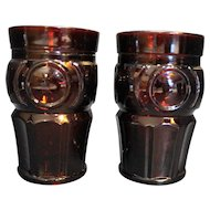 "Wheaton Bullseye Ruby Red 5"" Tumblers Pair"