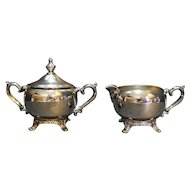 William Rogers Silverplate Cream Sugar Set