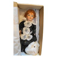 Lawton Doll High Tea England NIB Ltd Ed 370/500 1990 Cherished Customs 14 IN