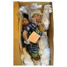 Lawton Doll Ndeko Zaire NIB L Ed 222/500 14 IN 1991 Cherished Customs