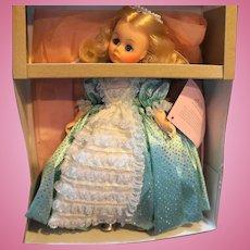 Madame Alexander Princess Doll Aqua Turquoise Dress NIB 1990 11 IN