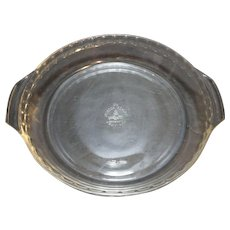 Anchor Hocking Fire King Crystal Clear Pie Plate 10 IN