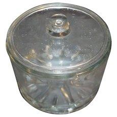Sanitary Cheese Preserver Glass 1930s-40s