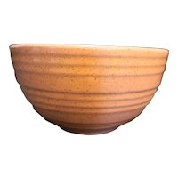 McCoy Pink Speckled Pottery Ribbed Mixing Bowl 7 IN