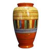 Mitsu-Boshi Thousand Eyes Faces Hand Painted Vase 1950s