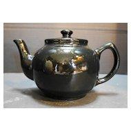 Black Glazed Teapot Tea Pot