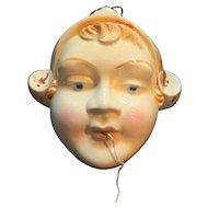 Chalkware Dutch Girl String Holder Missing Paint Full String