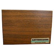 Letterguide Adjustable Scriber Precision Made Lettering Equipment