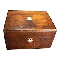 English Rosewood Ladies Dressing Box C. 1890