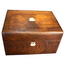 English Rosewood Ladies Dressing Box C. 1890
