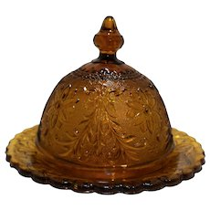 Tiara Exclusives Amber Sandwich Round Covered Butter Dish
