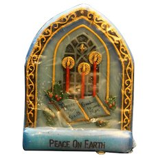 Christmas Inspirations Jasco Candle Peace on Earth 1978
