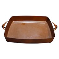Dansk Kobenstyle Brown Enamel Cast Iron Lasagna Casserole 13 IN