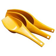 Foley Measuring Scoops Harvest Gold Plastic 1 Cup 1/2 Cup 1/3 Cup