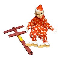 Hazelle Marionette Teto Puppet Clown Red White Polka Dots