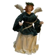 Clothtique Possible Dreams Angel Tree Topper Green White Christmas