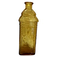 Perrine's Apple Ginger Amber Glass Bottle Wheaton 1960s-70s