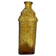 Perrine's Apple Ginger Amber Glass Bottle Wheaton 1960s-70s