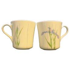 Corelle Shadow Iris Mugs Cups Pair