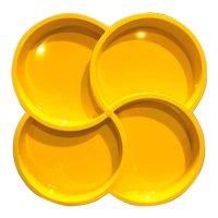 Dansk Gunnar Cyren Yellow Melmac Melamine Relish 4 Part